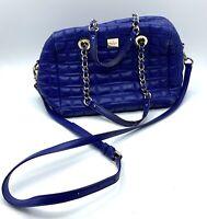 Kate Spade Kaiya Quilted Crossbody Satchel Bag Cobalt Blue Leather Chain Straps