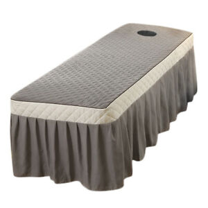 Massage Table Valance Sheet Beauty SPA Bed Skirt Cover with Face Rest Hole