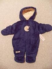 NWT Boys Carter's Blue Infant Velboa Pram Bunting Snowsuit 3-6 months Cow Moon