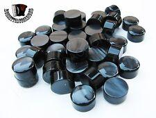 Accordion Buttons Black Harmonika Knöpfe 12.5 x 7.5 (mm) SET OF 10 PIECES