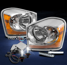 2004-2005 DODGE DURANGO CRYSTAL REPLACEMENT HEADLIGHTS CHROME W/DRL LED+HID KIT