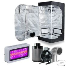 """24''x24''x48''Grow Tent+4""""Inline Fan Carbon Air Filter Duct Combo+300W LED Light"""