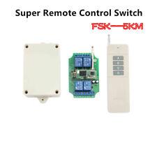 FSK+LORA 5KM 2-Way Long Range Transmitter Remote Control Wireless Relay Switch