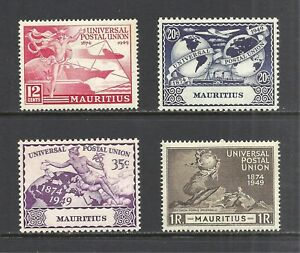 MAURITIUS SCOTT 231 - 234 MLH SET - 1949 U.P.U ISSUE    CV $4.35