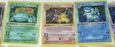 Pokemon Base Set 1st edition shadowless Charizard Blastoise Venusaur proxy card