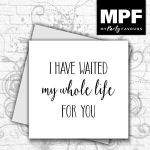 'Whole Life' card - romantic valentine love husband/wife/boyfriend/girlfriend