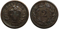 Schweiz 2 Rappen 1886