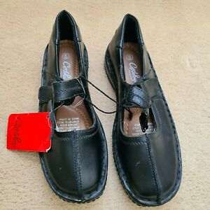 Grosby Footglove Black Comfort Flat Leather Shoes New with tags - Size 6