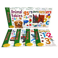 Get Set Go: Writing 10 Wipe-Clean Activity Book Set Collection Pack - Ages 3+