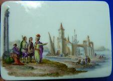 Amazing 1740s Meissen Porcelain Scenic Snuff Patch Box Porzellan Dose Tabatiere