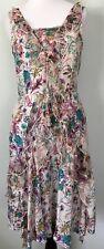 Sundance Summer Sun Dress Sz 2 100% Silk Floral Sleeveless  Boho Peasant