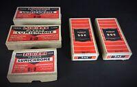 COLLECTION PHOTO Lot de 5 boîtes de plaques verre photo anciennes vierges