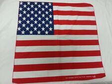 FOULARD ROSSO BANDIERA AMERICANA USA FLAG BANDANA STATI UNITI U.S.A. CM 54 x 54