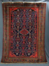 SEMI ANTIQUE BLUE MALAYER RUG 55X77 inch VERY GOOD CONDITION