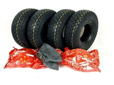 Set of (4) 4.00-5 (330x100)  Mobility Scooter Tyres & Tubes (Good Care)