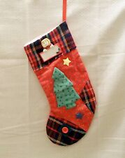 Girl's Personalize Christmas Stocking with Tree