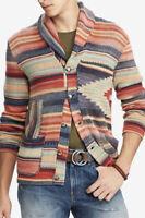 Polo Ralph Lauren Small Multi Stripe Cardigan Sweater Southwestern RRL Serape XS