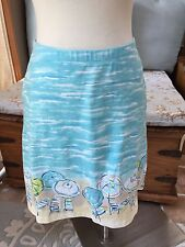 J. Jill Scenic Beach Umbrella Lounge Chair Stretch Skirt XS Excellent