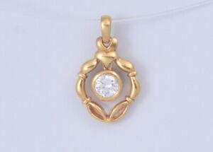 BEAUTIFUL 18K Yellow Gold .35ct Dangling Diamond Pendant