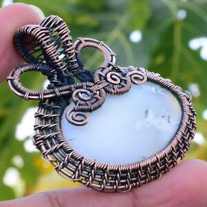 Amethyst Gemstone Handmade Copper Wire Wrapped Pendant 1.97 Inch GLJ-5211