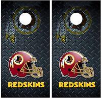 Washington Redskins Diamond Plate Cornhole Board Decal Wrap Wraps
