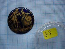 Petit médaillon émail Scene galante émaillé cuivre bijoux montre watch pocket p3