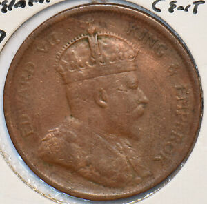Straits Settlements 1907 Cent 295200 combine shipping