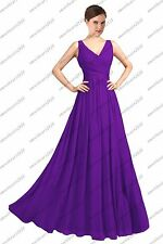 Long chiffon Bridesmaid Formal Ball Gown Party Cocktail Evening Prom Dress 6-26