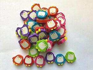 50 Mini Penguin Shaped Erasers Teacher Supply Sorting Math Counter Rewards
