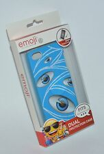 EMOJI BRAND BLUE EYES EYE BALL IPHONE 5 5S CASE SLEEVE DUAL PROTECTION HARD SOFT
