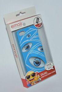 EMOJI BRAND BLUE EYES EYE BALL IPHONE 5 5S CASE SLEEVE DUAL PROTECTION HARD SOFT