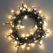10 Meter Außen Lichterkette mit 100 LEDs warmweiß Weihnachtsbeleuchtung XM44