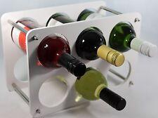 Wine Bottle Rack- 6 Bottle Holder storage Beautiful Gift  Free Standing White