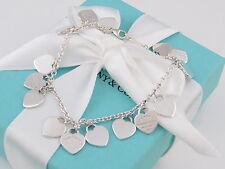 Tiffany & Co Return to Silver Multi Hearts Dangle Bracelet
