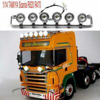 LED Spotlight 1:14 Trucks Highline RC TAMIYA Scania R620 R470 Stainless Steel