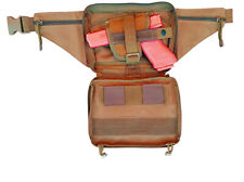 Tan Concealed Carry 4 Compartment Durable Canvas Waist Pistol Fanny Pack