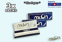 3 Packs - Moon Blue Rice Rolling Papers -