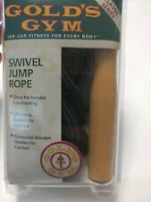 Gold's Gym Classic Series Swivel Jump Rope 8 Feet 8' G720 Wooden Handles