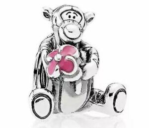 Genuine Pandora Silver Disney Tiger Pink Enamel Charm # 792135EN80