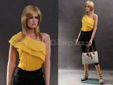 Female Fiberglass Mannequin Beautiful Face with elegant pose Style #Mz-Lisa2