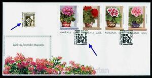 2017 Pelargonium/Geranium Flowers,Storkbills,Blumen,Flora,Romania,7300,spec.FDC