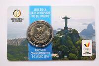 """BELGIUM 2 euro 2016 """"Olympics in Rio"""" IN COINCARD B28 #16"""