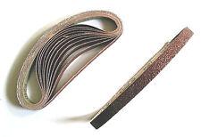 120 Stück Gewebe-Schleifbänder 13x457 mm Korn 40-240 Schleifpapier Schleifband