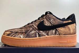 "Nike Air Force 1 '07 LV8 3 ""Realtree Camo"" Men's 8 Black Aloe Verde AO2441-001"