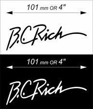 ONE self-adhesive PVC film B.C.Rich Sticker. Diff. colours are available