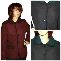 NEW WOMENS LADIES QUILTED PADDED BUTTON  JACKET COAT PLUS SIZES 12-20 RRP £50