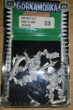 Warhammer 40k-Gorkamorka-Metal ork boyz with hand to hand armes New [1997]