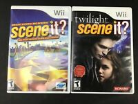 Lot of 2 Wii Video Games Scene It: Bright Lights Big Screen & Twilight - Rated T