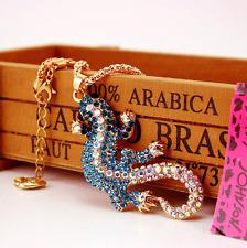 Enamel Betsey Johnson Pendant Jewelry Fashion Chain Gecko Women Enamel Necklace