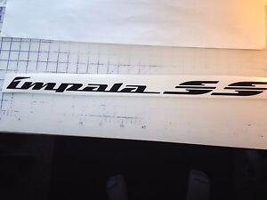 94 95 96 Impala SS side script Air dam decal Premium chrome reflective Brushed